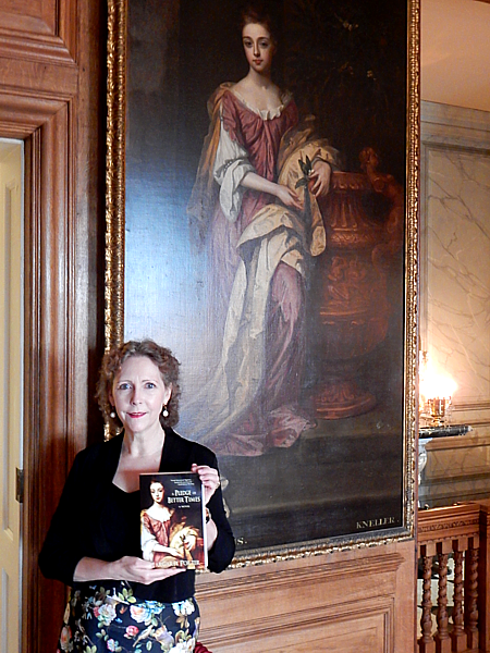 Margaret at Hampton Court Palace with her protagnist
